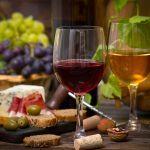 Wine and cheese at New Castle Liquors