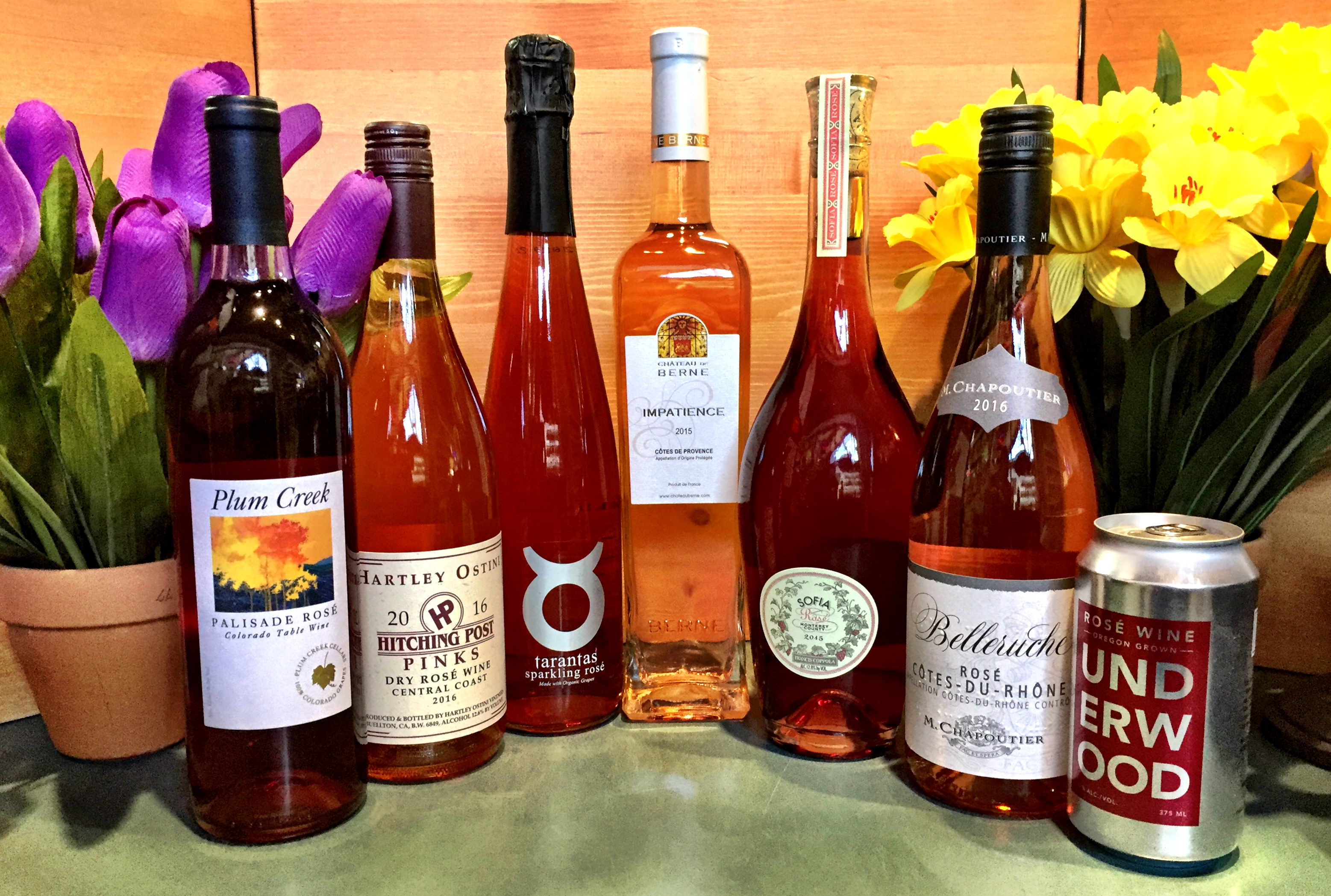 Rosé wines at New Castle Liquors