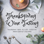 Thanksgiving Wine Tasting Nov. 15, 2018