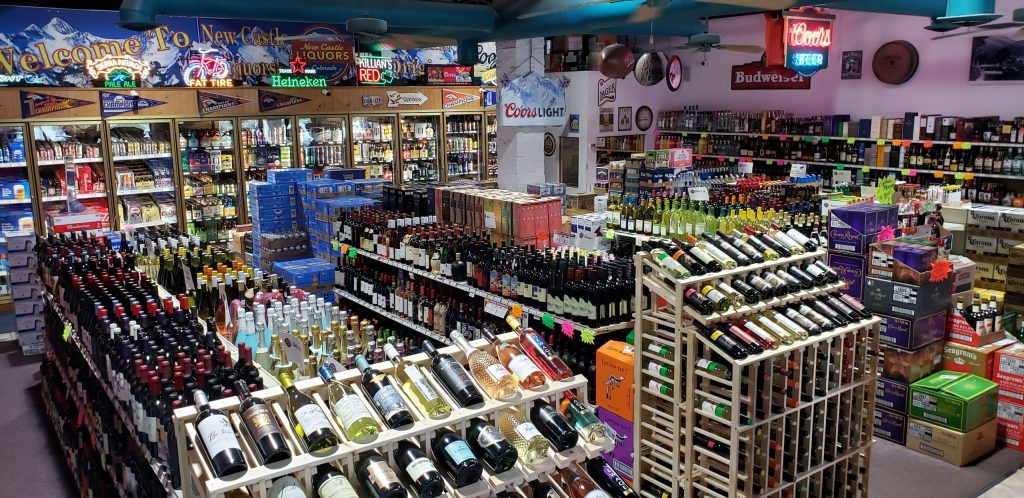 Interior of New Castle Liquors